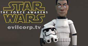 Boneco de Vinil Star Wars The Force Awakens – Stormtrooper (John Boyega) EVIL Vinyl