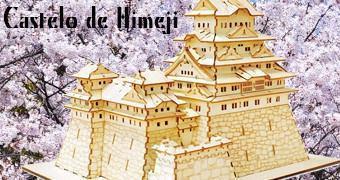 Quebra-Cabeça 3D de Madeira do Castelo de Himeji