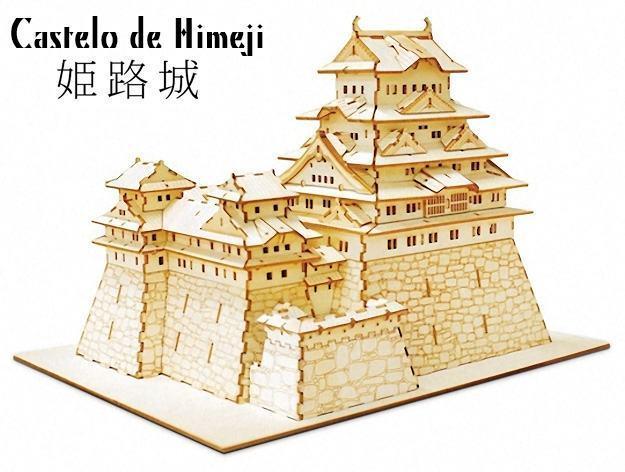 QUebra-Cabeca-3D-Ki-Gu-Mi-Himeji-Castle-Model
