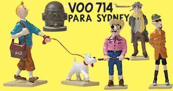 As Aventuras de Tintim 86 Anos: Mini-Figuras Voo 714 para Sidney
