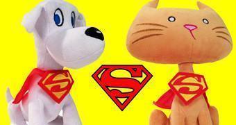 Bichos de Pelúcia DC Comics: Supercão Kripto e Supergato Streaky