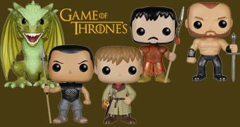 Game of Thrones Pop! Série 5: Viserion e Rhaegal, Montanha, Wight, Jammie, Grey Worm e Oberyn Martell