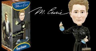 Boneca Bobble Head de Marie Curie – Vencedora dos Prêmios Nobel de Física e Química