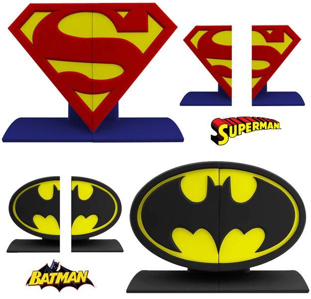 Superman-Batman-Logo-Bookends-01