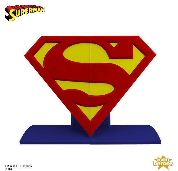 Superman-Logo-Bookends-04