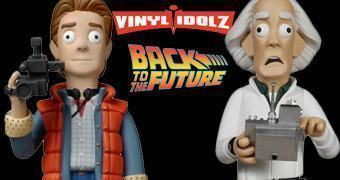 Back to the Future Vinyl Idolz – Bonecos de Vinil Funko e Large Evil Corp.