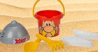 Balde de Areia Asterix para Brincar na Praia ou no Parque