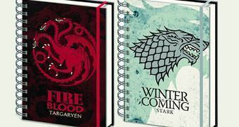 Cadernos Game of Thrones House Crest Notebooks
