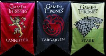 Estandartes das Casas Nobres de Westeros – Game of Thrones Sigil Banners