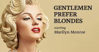Estátua Marilyn Monroe em Os Homens Preferem as Loiras