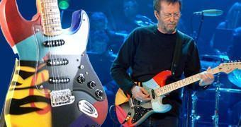 Eric Clapton 70 Anos: Miniatura da Guitarra Fender Stratocaster Crash #3 Crashocaster