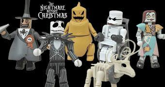 Nightmare Before Christmas Minimates Série 1 – Mini-Figuras do Filme O Estranho Mundo de Jack