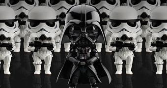 Bonecos Nendoroid Star Wars: Darth Vader e Stormtrooper