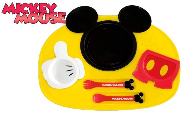 Prato-Talheres-Mickey-Mouse-Lunch-Plate-Set-01