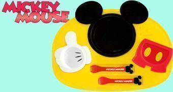 Set de Pratos e Talheres Mickey Mouse Lunch Plate