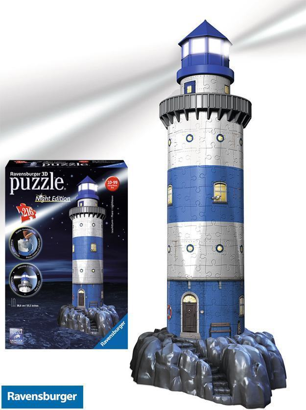Quebra-Cabeca-Lighthouse-at-Night-3D-Puzzle-01