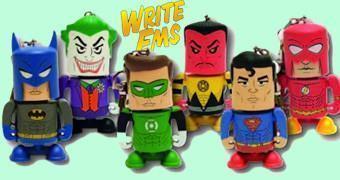 Mini Chaveiros Lápis Write Ems Dc Comics