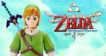 """Action Figure Link 20"""" em The Legend of Zelda: Skyward Sword (Escala Grande)"""