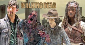 Action Figures The Walking Dead TV Série 7: Gareth, Michonne, Carl e Zumbi Mud Walker