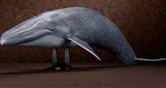 Baleia-Azul Blue Whale Mega Sofubi Advance em Escala 1:35
