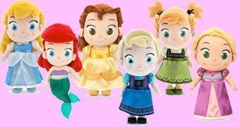 Bonecas de Pelúcia Princesas Disney Toddler