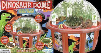 Terrário Dinosaur Dome – Kit Científico Botânico com Plantas Pré-Históricas do Tempo dos Dinossauros!