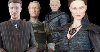 Figuras Dark Horse Game of Thrones: Sansa Stark, Brienne, Jorah Mormont e Petyr Baelish