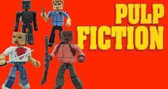 Pulp Fiction Pawn Shop Dungeon Minimates: Butch, Marsellus Wallace, Zed e o Gimp