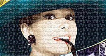 Quebra-Cabeça Audrey Hepburn com 1.000 Peças