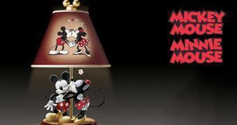 Abajur Mickey e Minnie Sweethearts Lamp