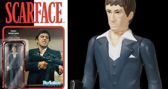Scarface: Al Pacino como Tony Montana – Action Figure Funko ReAction em Estilo Retro