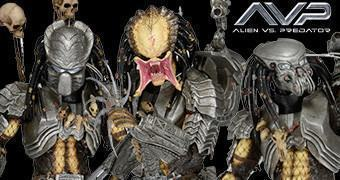 "Action Figures 7"" Predator Série 14: Celtic, Scar e Chopper do Filme Alien vs. Predador"
