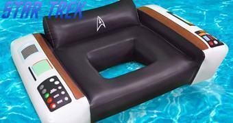 Boia de Piscina Star Trek: Cadeira do Capitão