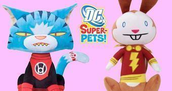 Super Bichos de Pelúcia DC Comics: Dex-Starr e Hoppy Captain Marvel Bunny