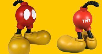 Figura Toy Art Mickey Friendly Fire de Jason Freeny