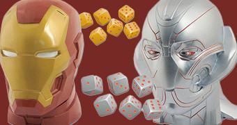 Jogos de Dados Yahtzee Vingadores Era de Ultron: Iron Man e Ultron