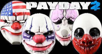 Máscaras dos Assaltantes de Banco do Game Payday 2