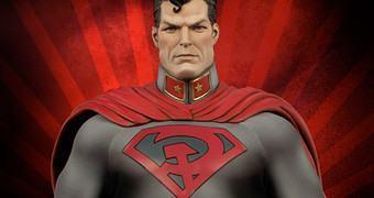 Superman Red Son Premium Format – Estátua Sideshow da Graphic Novel Entre a Foice e o Martelo