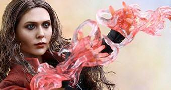 Feiticeira Escarlate (Elizabeth Olsen) em Vingadores: Era de Ultron – Action Figure Perfeita Hot Toys