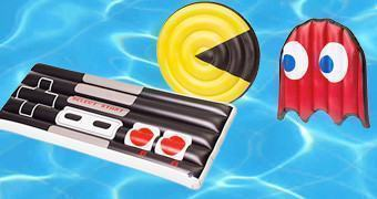 Boias de Piscina para Gamers: Gamepad Retro e Pac-Man & Ghost Pool Float Sets