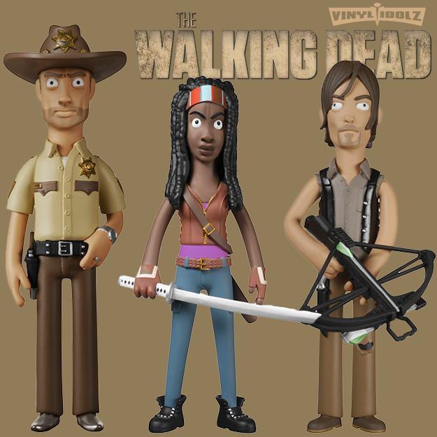 The Walking Dead Vinyl Idolz Bonecos De Vinil Da