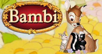 Pote de Cookies Bambi com Tambor e Flor (Disney)