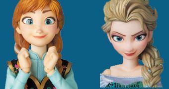 Action Figures Medicom RAH Frozen: Elsa e Anna