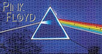 Quebra-Cabeça Pink Floyd The Dark Side of the Moon com Fundo Azul