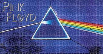 Quebra-Cabeça Pink Floyd The Dark Side of the Moon com Fundo Azul
