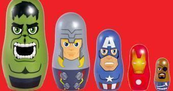 Bonecas Russas Matryoshkas Avengers Nesting Dolls (Vingadores)
