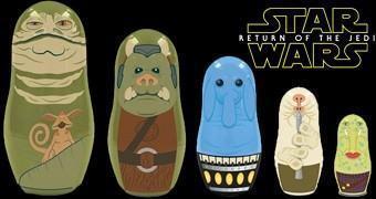 Bonecas Russas Matryoshkas Star Wars: Palácio do Jabba