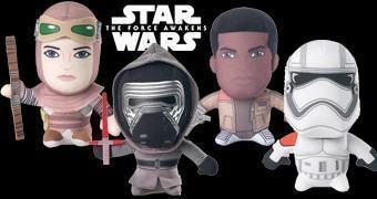 Bonecos de Pelúcia Super Deformados Star Wars: O Despertar da Força