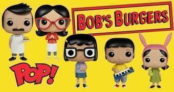 Bonecos Pop! do Desenho Animado Bob's Burgers