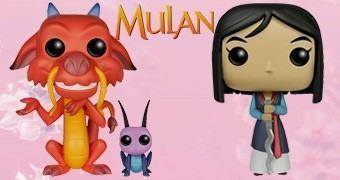 Bonecos Pop! Disney: Mulan, Mushu e Cricket
